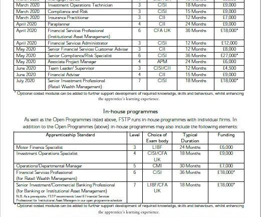 Apprenticeships open programmes