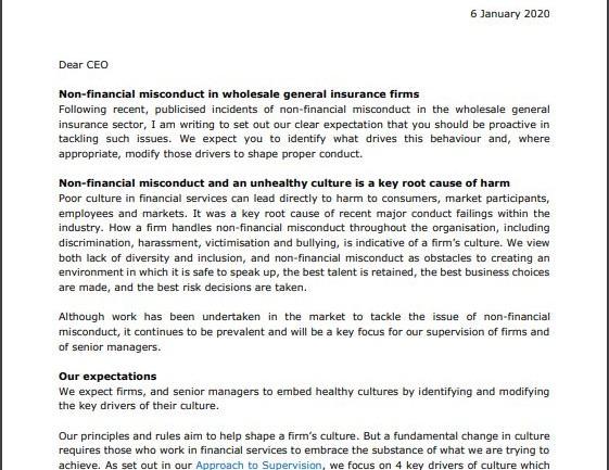 FCA, Dear CEO, Financial Services Regulation , FSTP